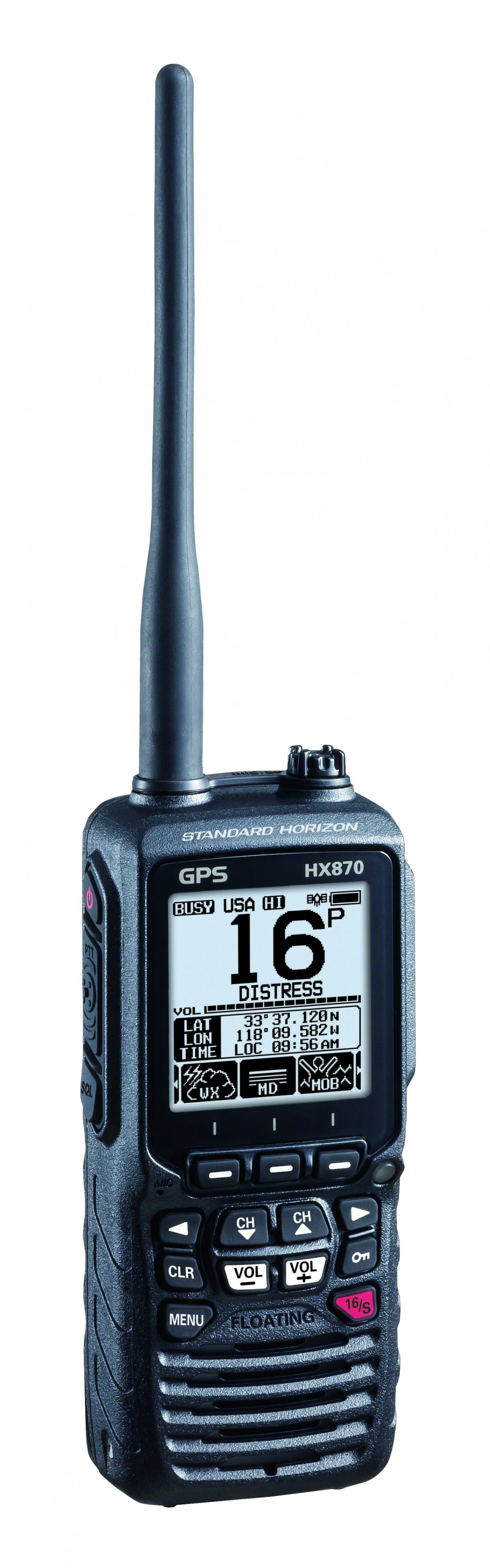 Hx870e Handheld Vhf Gps Plastimo Happy Boating To You