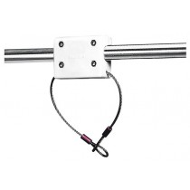 Outboard motor holder with cable