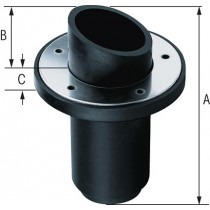 Transom exhaust connection