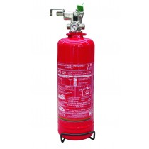 Gas fire extinguishers with remote activation