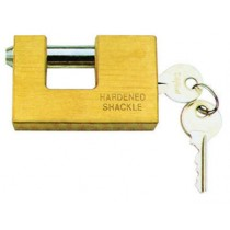 Brass padlock alone