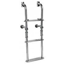 Transom-mount folding ladder