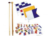 Flags, flag staffs and pole sockets