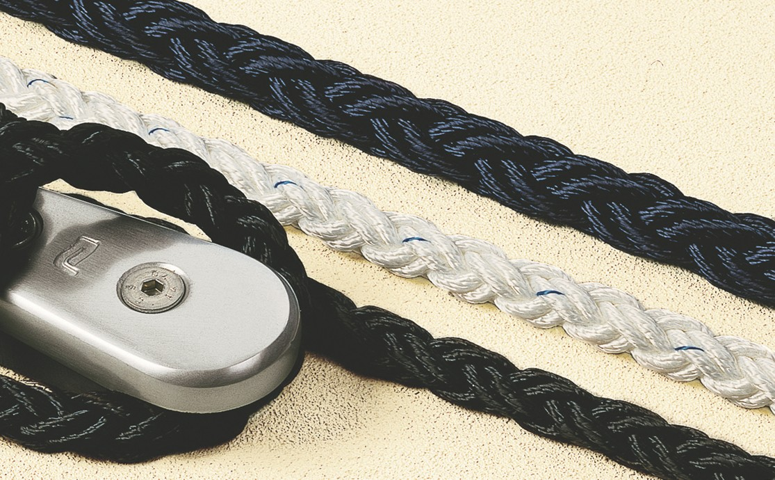 Octoplait polyester mooring line