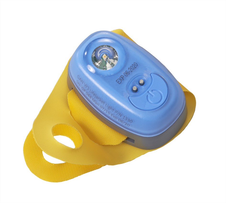 62058  W3 flashlight with loop to attach to lifejacket oral tube