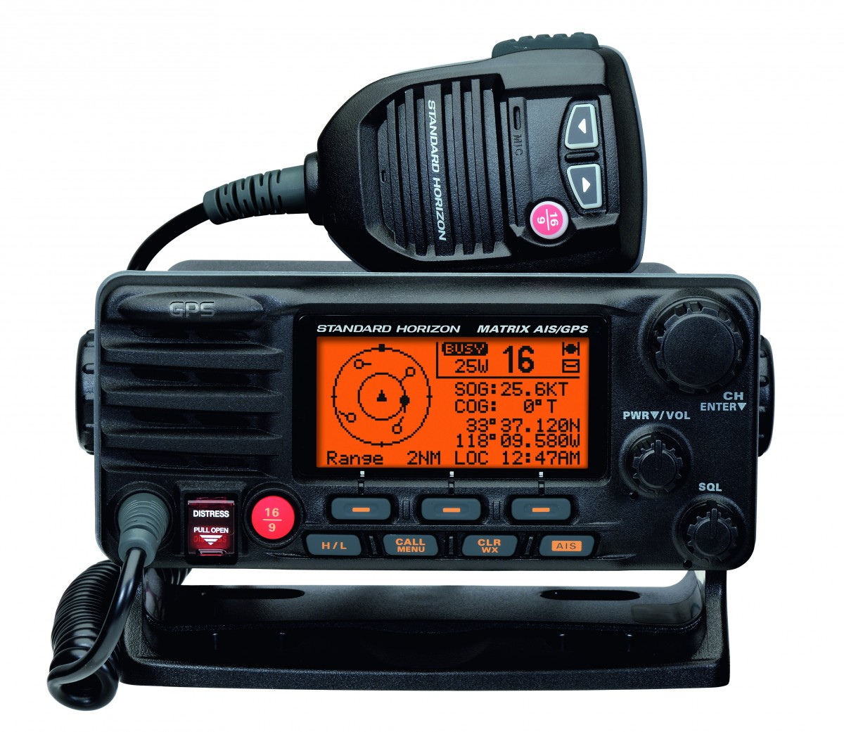 GX2200E VHF (GPS & AIS), fixed-mount