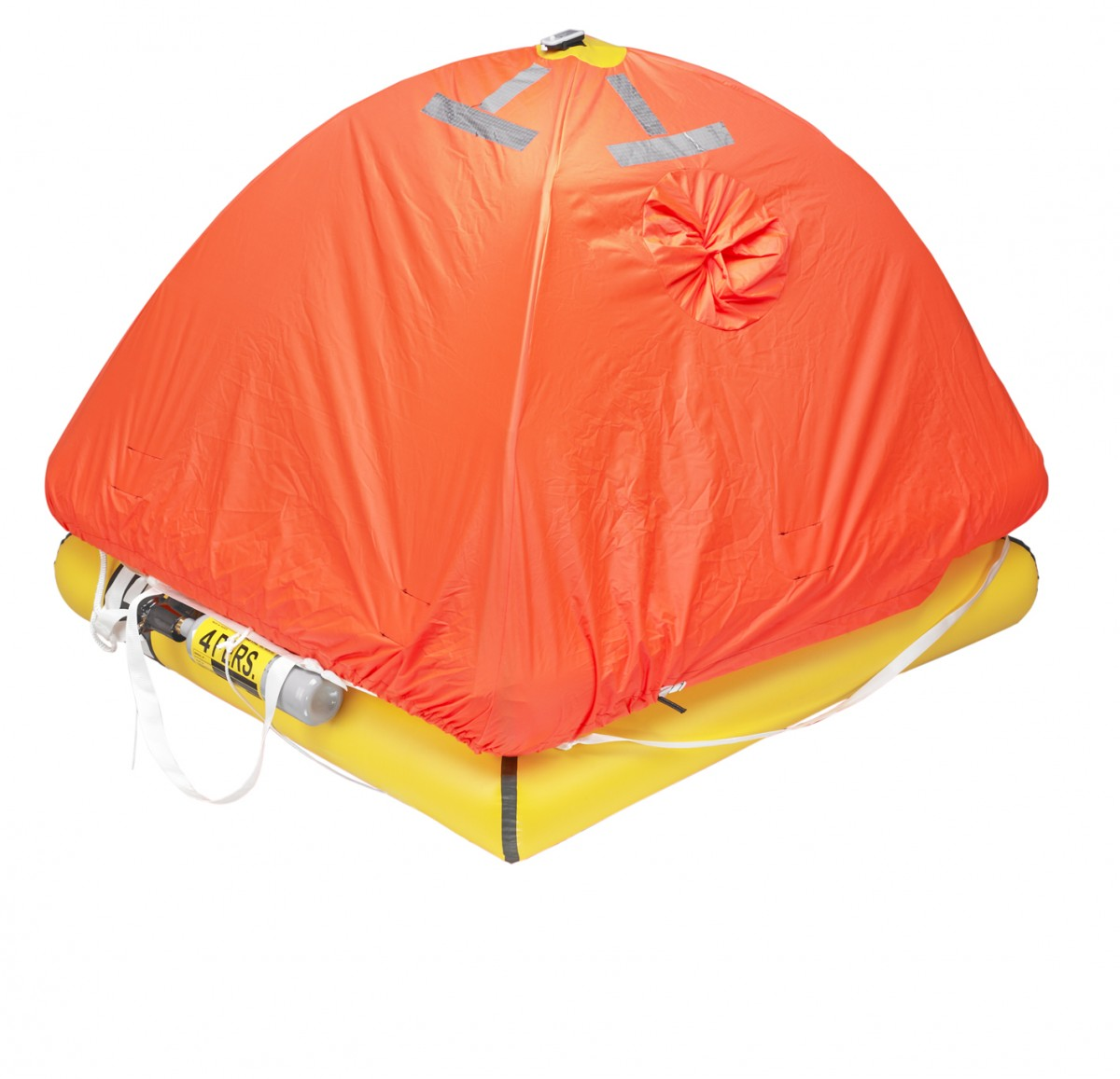 4-man ISO 9650-2 liferaft, closed
