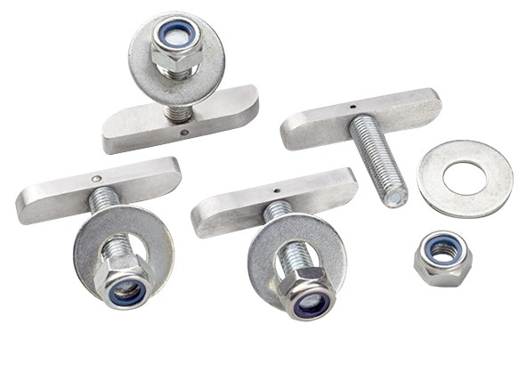 65843   Dock bolting kit includes 4 T-bolts in 316 st.steel. Not originally included : must be ordered additionally