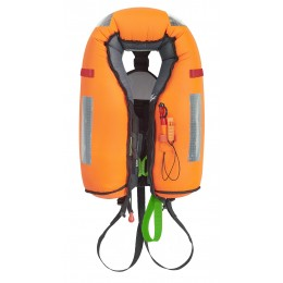 Fluo orange air chamber, fully stitched to outer shell.