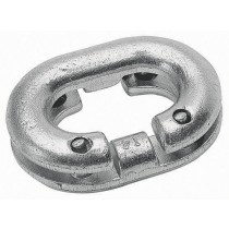 Galvanised steel chain joining link