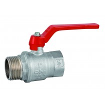 Nickel plated brass valve, 2-way, male/female