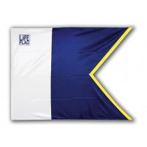 Alpha Pro diving flag