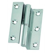 Offset take-apart hinges, chrome-plated brass