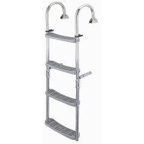 St. steel folding ladder, 180° crook