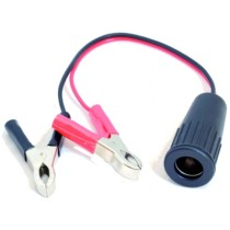 Female cigarette-lighter adaptor for batteries