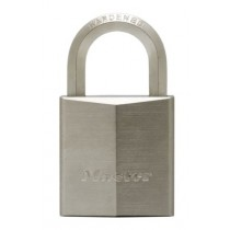 High security padlocks in nickel plated brass