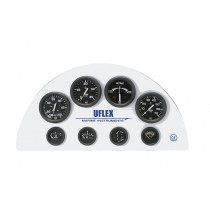 Uflex instruments for dashboard, black dial