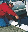 The Bumper can be secured with screws on the pontoon.